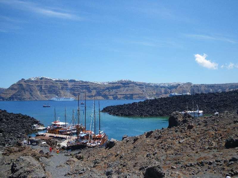 Nea Kameni, die Lava-Insel