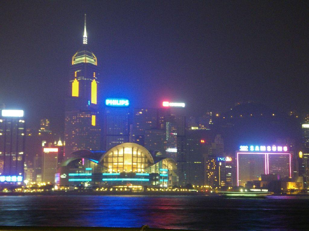 Skyline von Hongkong Island