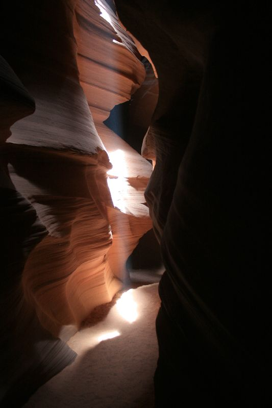 Lichtstrahl im Antelope Canyon