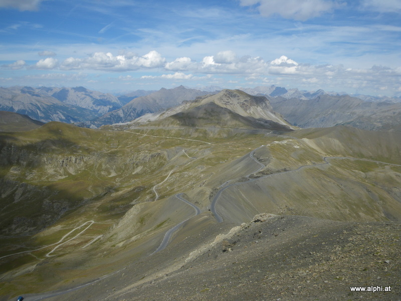 Blick auf den Col de la Bonette