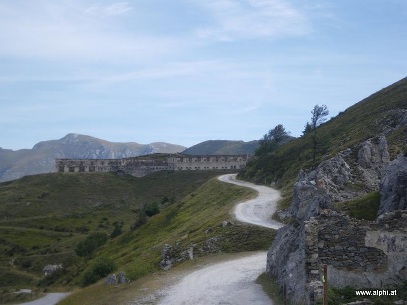 Blick auf das Fort Central