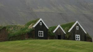 Typische Torfhäuser