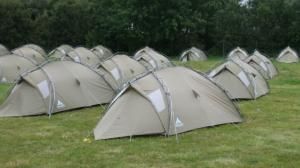 Hier kommen also die kleinen Zelte her...