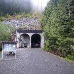 Das gesperrte Tunnelportal